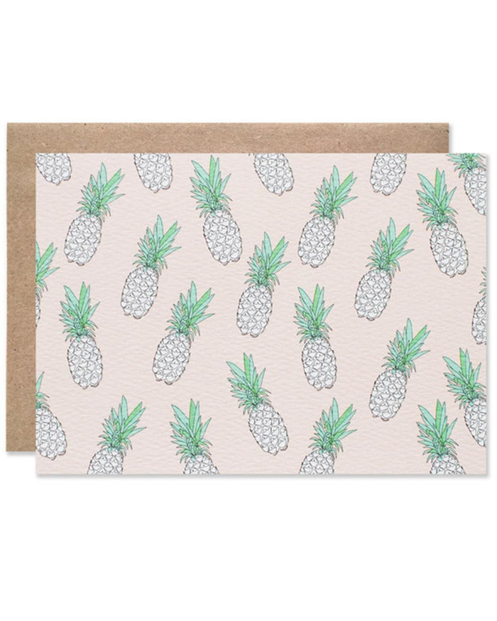 Little hartland brooklyn paper+party Pineapple Blank Card