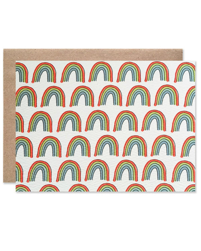 Little hartland brooklyn paper+party Rainbow Blank Card