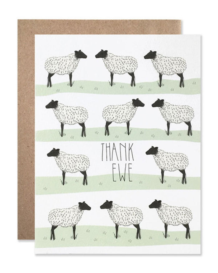 Little hartland brooklyn paper+party Thank Ewe Card