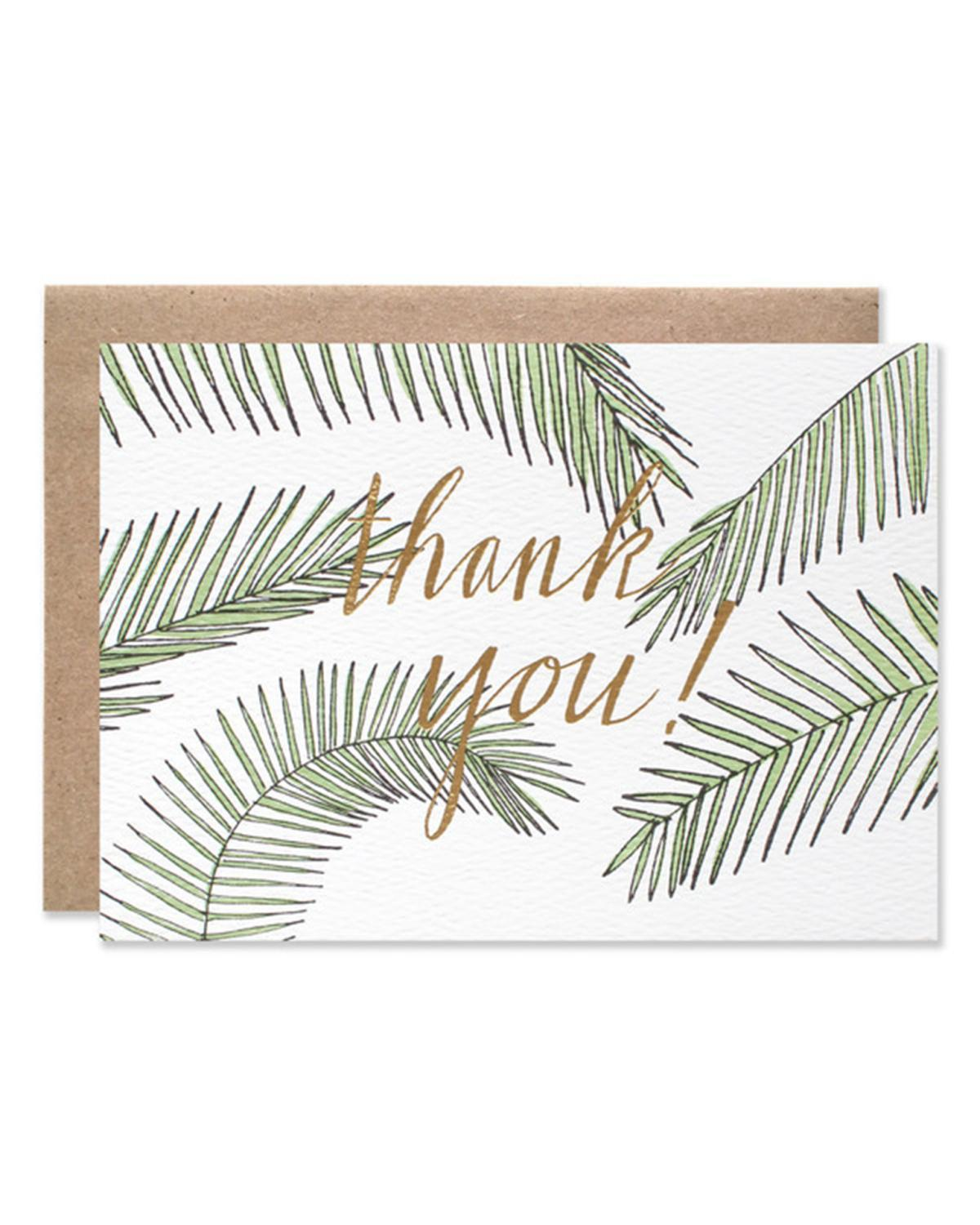 Little hartland brooklyn paper+party Thank You Palms with Gold Foil Card
