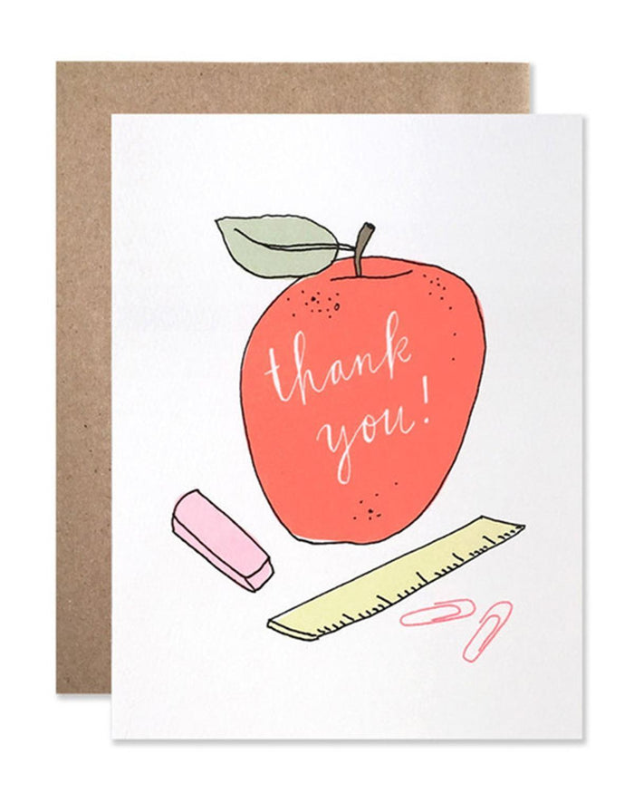 Little hartland brooklyn paper+party Thank You Teacher Card