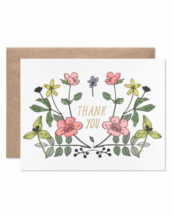 Little hartland brooklyn paper+party thank you wildflowers with gold foil
