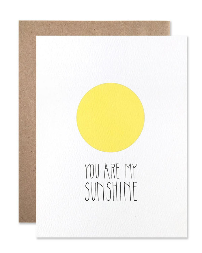 Little hartland brooklyn paper+party You Are My Sunshine Card