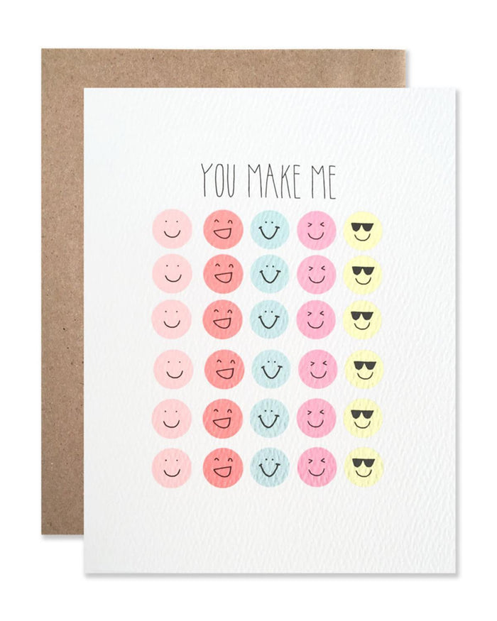 Little hartland brooklyn paper+party You Make Me Smile Card