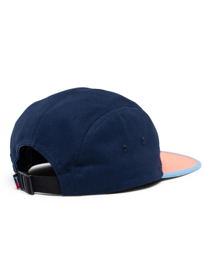 Little herschel supply co accessories glendale cap in navy + salmon