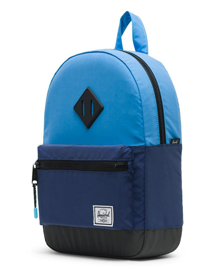 Little herschel supply co accessories kids heritage backpack in alaskan blue reflective