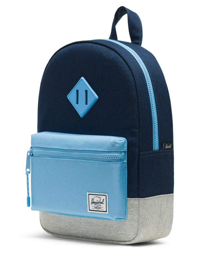 Little herschel supply co accessories kids heritage backpack in medieval blue crosshatch
