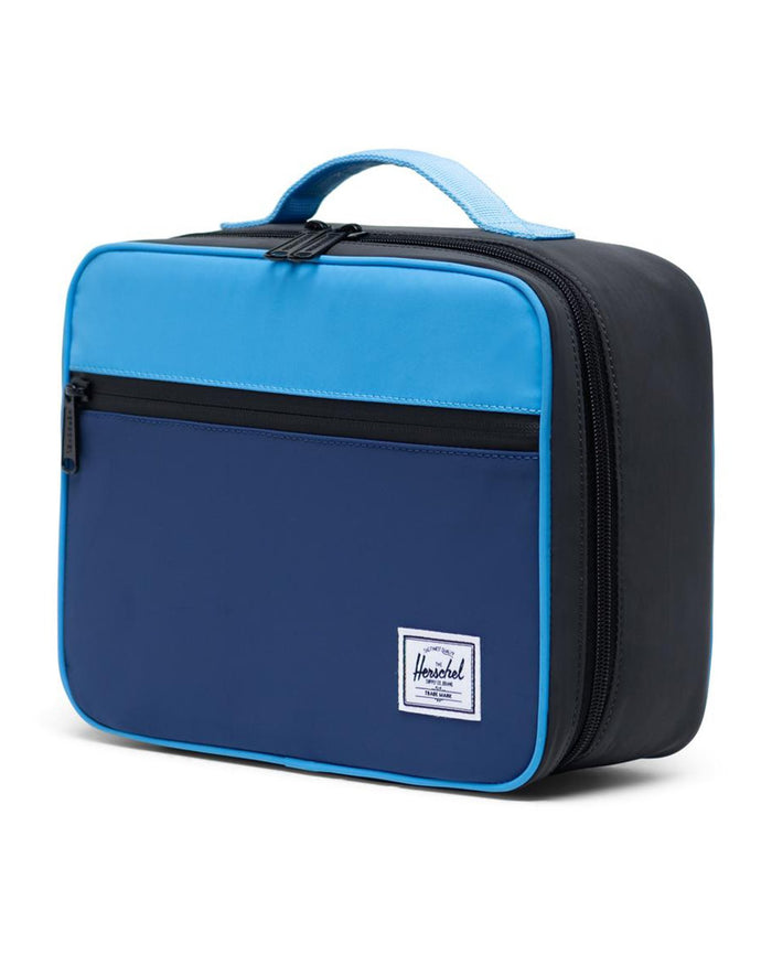 Little herschel supply co accessories pop quiz lunch box in alaskan blue reflective