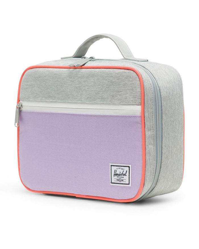 Little herschel supply co accessories pop quiz lunch box in lavendula crosshatch