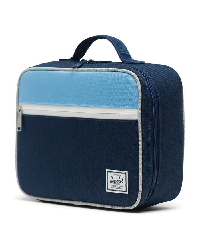 Little herschel supply co accessories pop quiz lunch box in medieval blue crosshatch