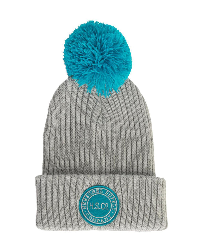 81463b8cee0ef Little herschel supply co accessories sepp beanie in light grey + tile blue