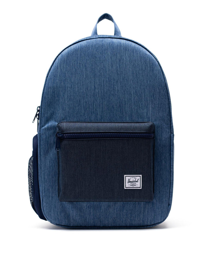 Little herschel supply co accessories settlement sprout backpack in faded + indigo denim