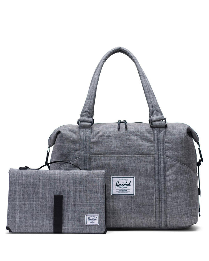 Little herschel supply co accessories strand sprout diaper duffle in raven crosshatch