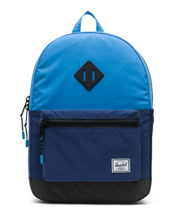 Little herschel supply co accessories youth heritage backpack in alaskan blue reflective