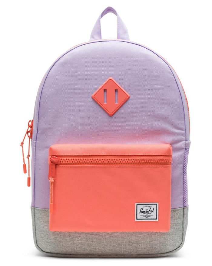 Little herschel supply co accessories youth heritage backpack in lavendula crosshatch
