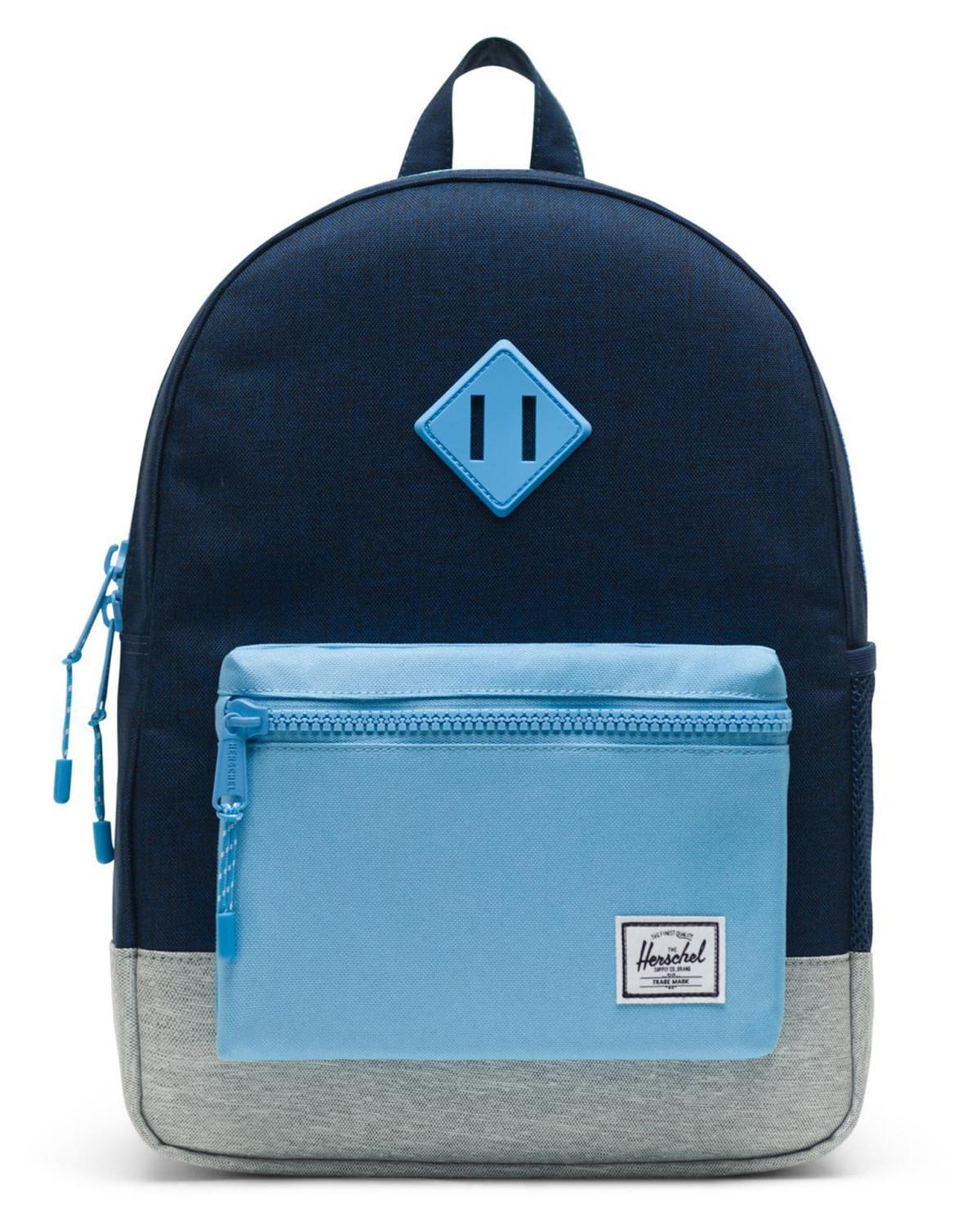eb658fa4855 Little herschel supply co accessories youth heritage backpack in medieval  blue crosshatch ...