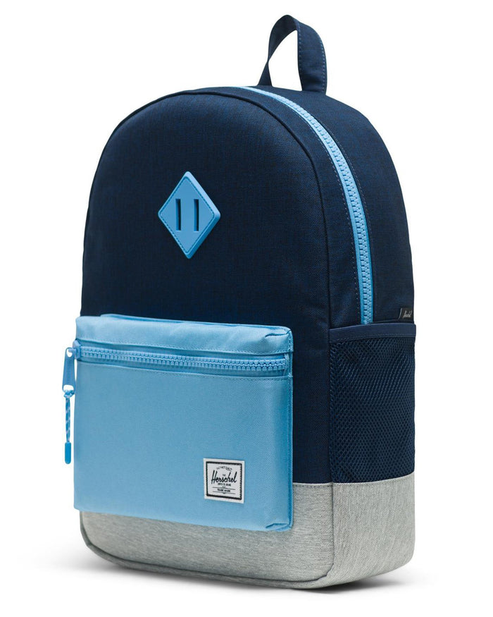 Little herschel supply co accessories youth heritage backpack in medieval blue crosshatch