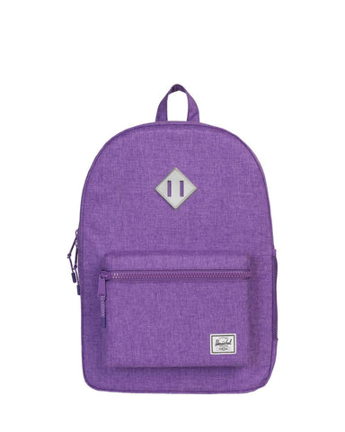 Little herschel supply co accessories youth heritage backpack XL in lavender crosshatch