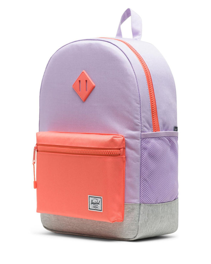 Little herschel supply co accessories youth heritage backpack xl in lavendula crosshatch