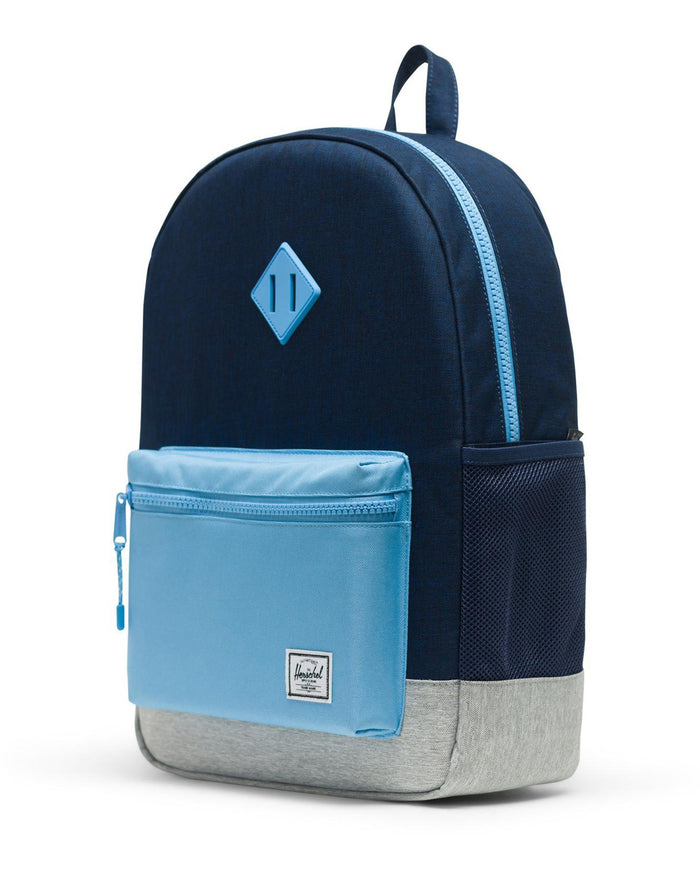 Little herschel supply co accessories youth heritage backpack xl in medieval blue crosshatch