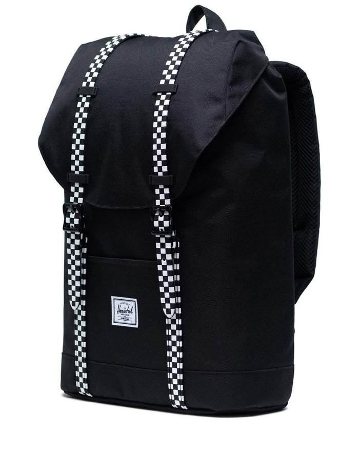 Little herschel supply co accessories youth retreat backpack in black + checkerboard