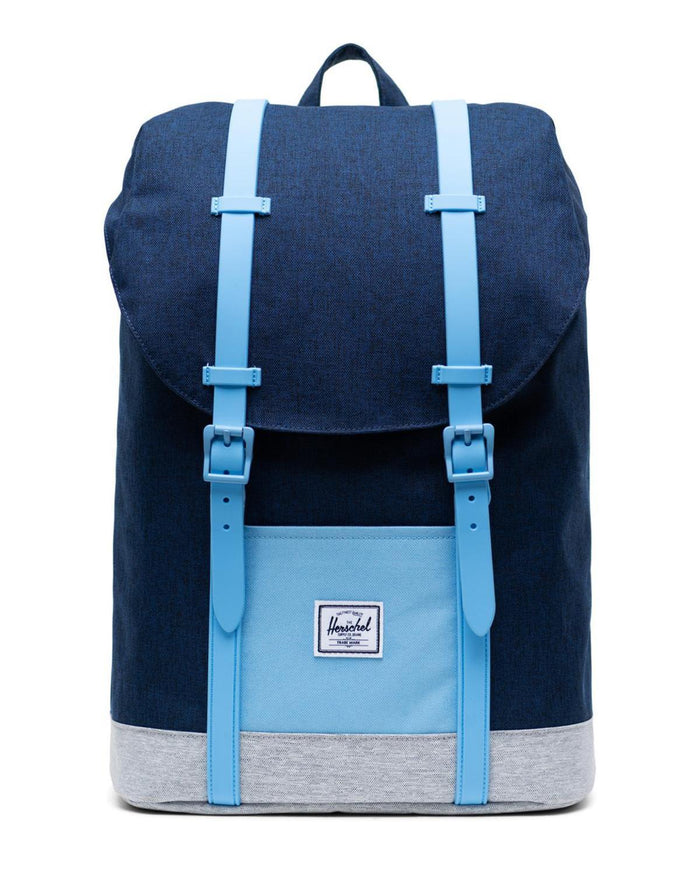 Little herschel supply co accessories youth retreat backpack in medieval blue crosshatch