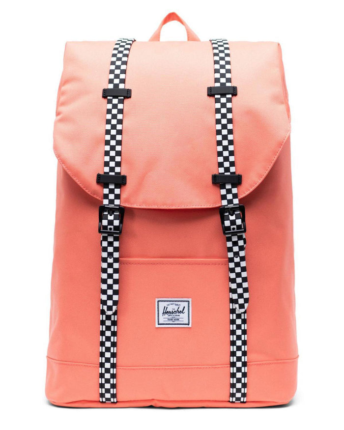 Little herschel supply co accessories youth retreat backpack in salmon + checkerboard