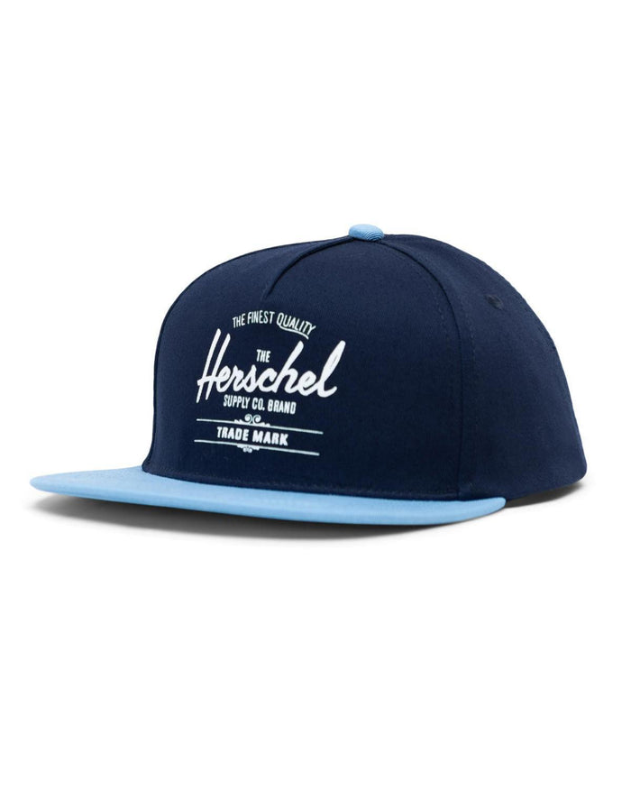 Little herschel supply co accessories youth whaler cotton twill cap in navy + blue