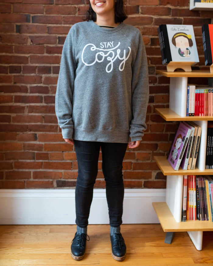 Little hills + trails co. women adult stay cozy crewneck in heather gray
