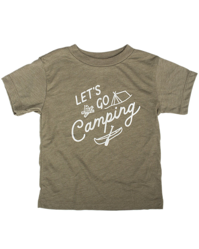 Little hills + trails co. boy campfire toddler tee in olive