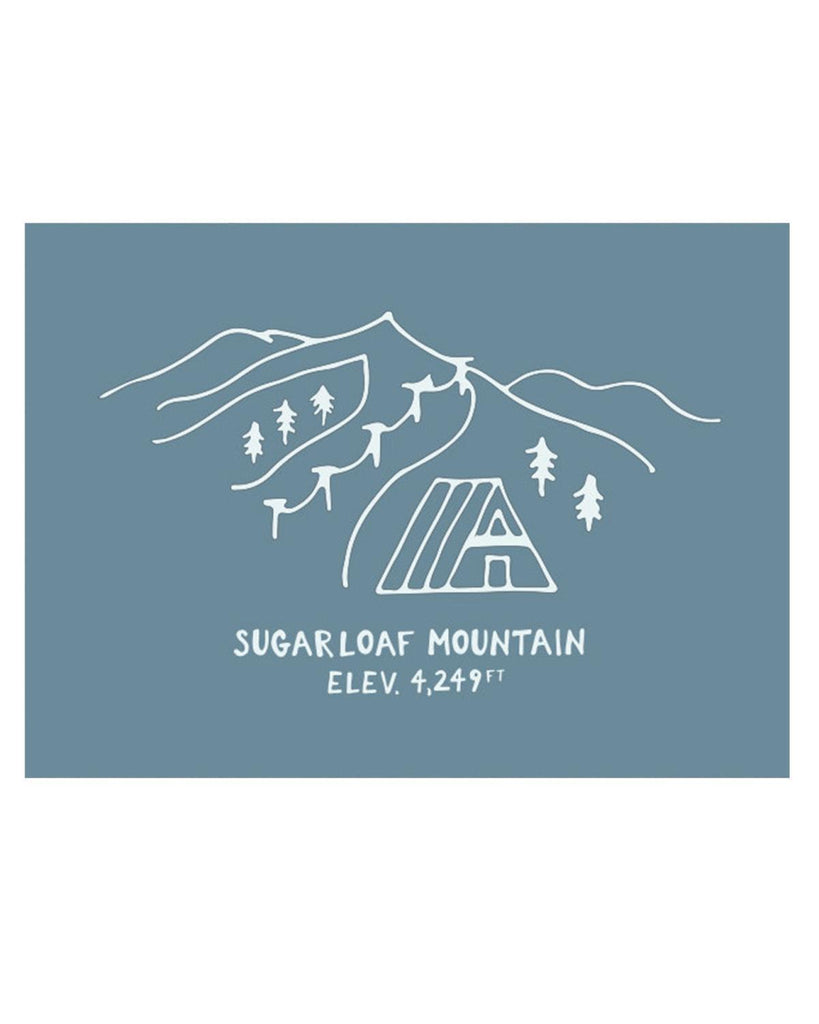 Little hills + trails co. paper+party Sugarloaf Mountain Postcard