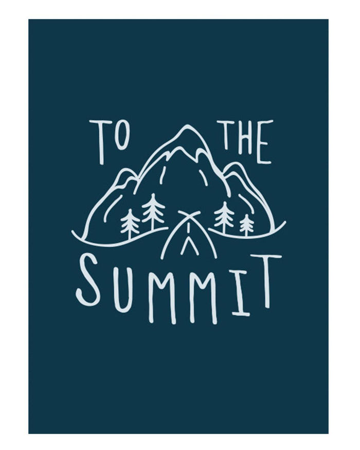 Little hills + trails co. paper+party 'To the Summit' Postcard