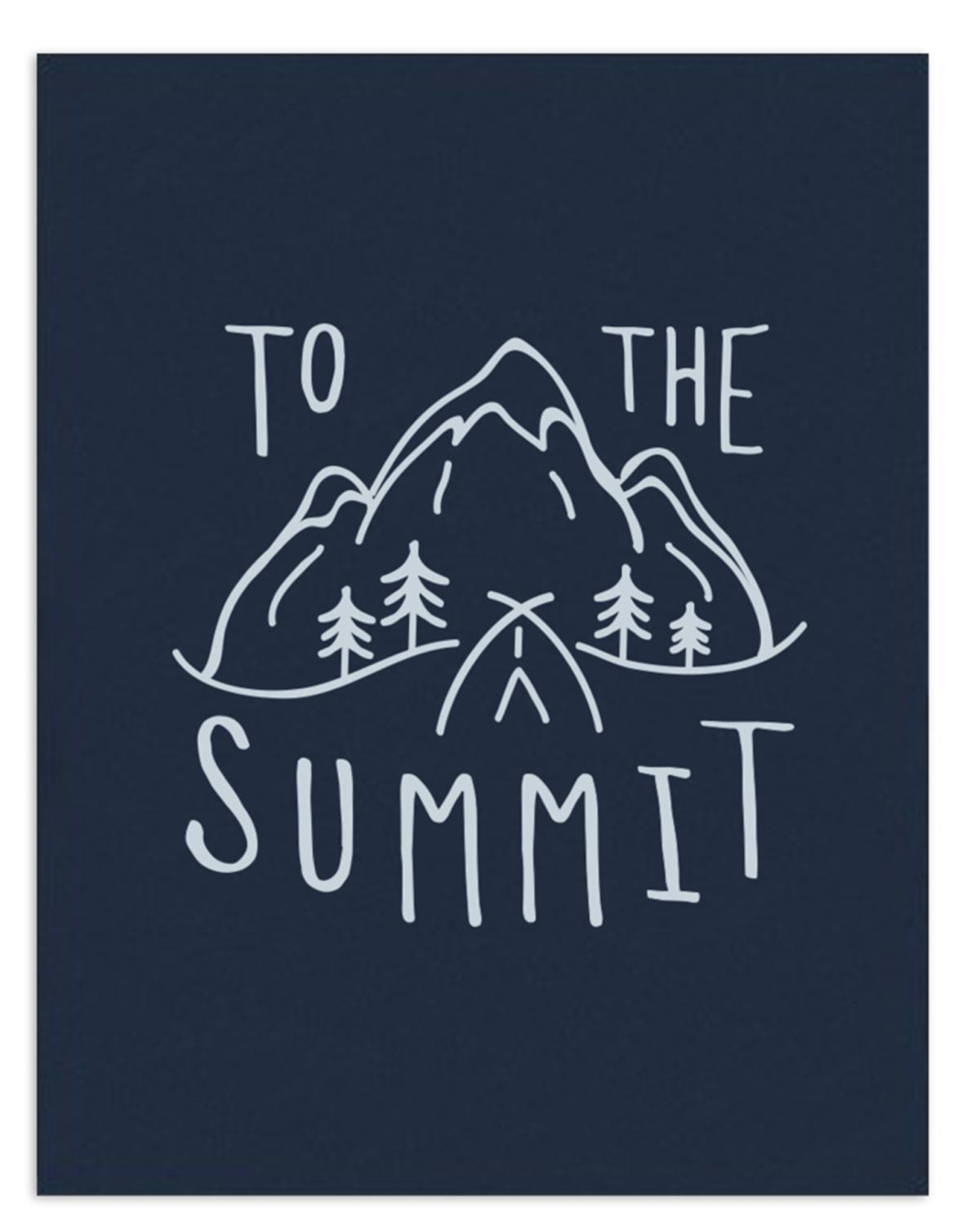Little hills + trails co. room 11x14 'To the Summit' Print