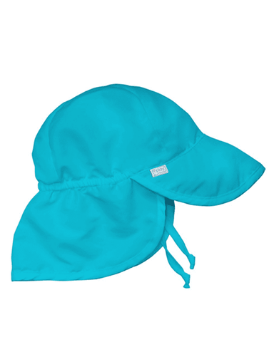 Little i play baby boy 0-6 Baby Flap Sun Protection Hat in Aqua