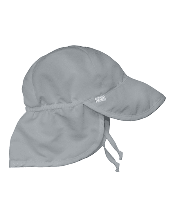 Little i play baby boy 0-6 Baby Flap Sun Protection Hat in Grey