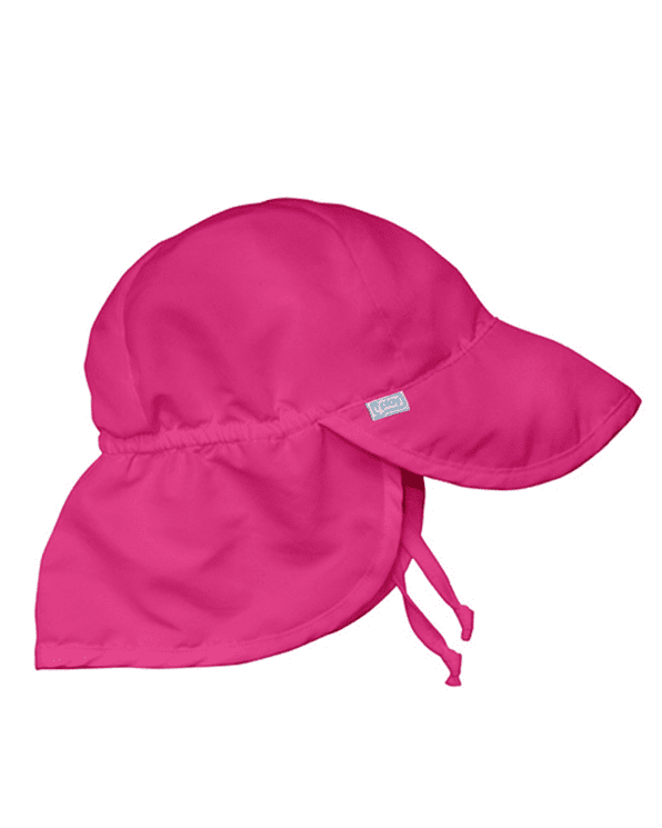 Little i play baby girl 0-6 Baby Flap Sun Protection Hat in Hot Pink