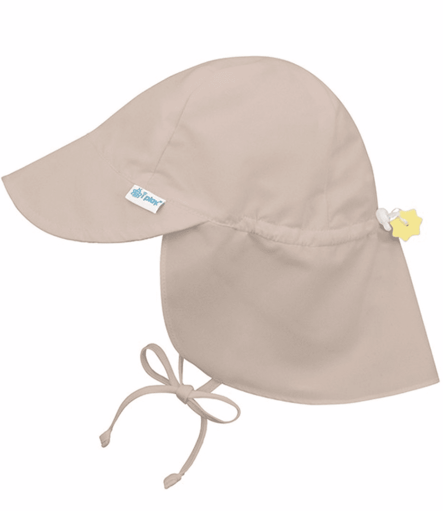 Little i play baby boy 0-6 Baby Flap Sun Protection Hat in Khaki