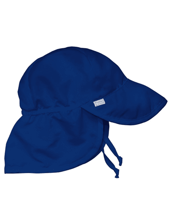 Little i play baby boy 0-6 Baby Flap Sun Protection Hat in Royal Blue