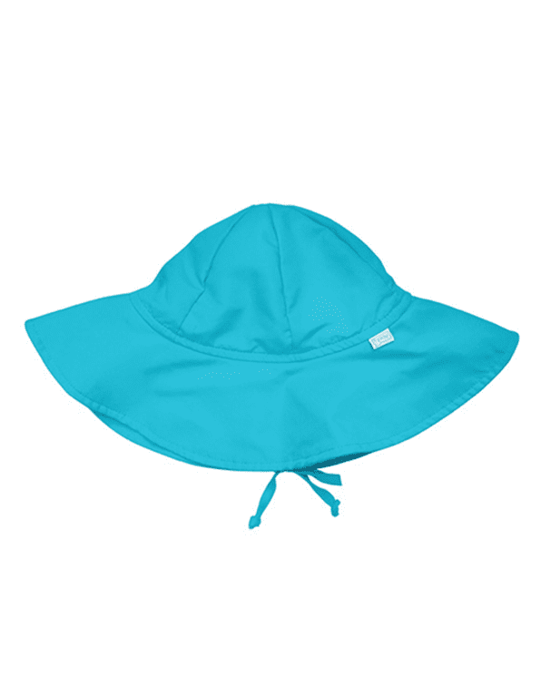 Little i play baby boy 0-6 Solid Brim Sun Protection Hat in Aqua