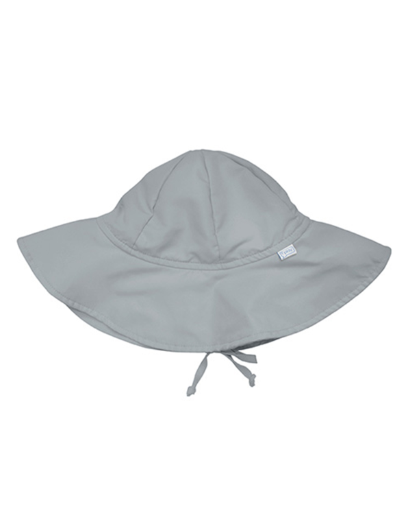 Little i play baby boy 0-6 Solid Brim Sun Protection Hat in Grey