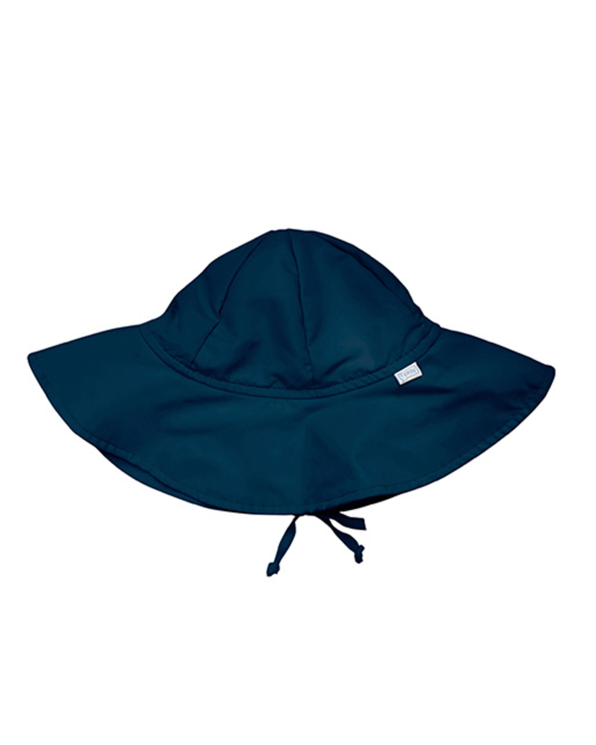 Little i play baby boy 0-6 Solid Brim Sun Protection Hat in Navy