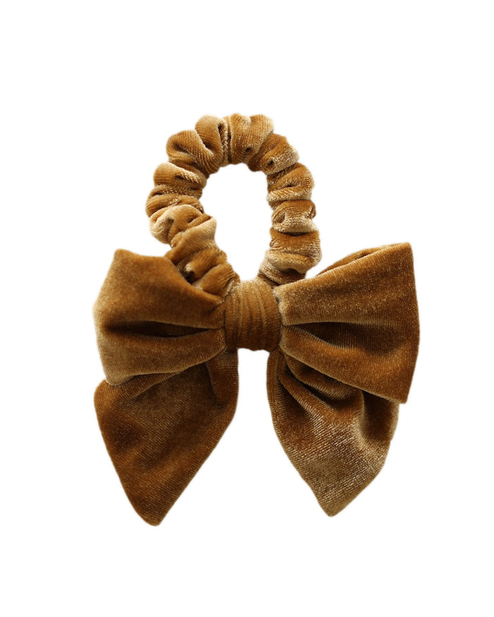 Little jamie kay accessories aela velvet hair tie in gold