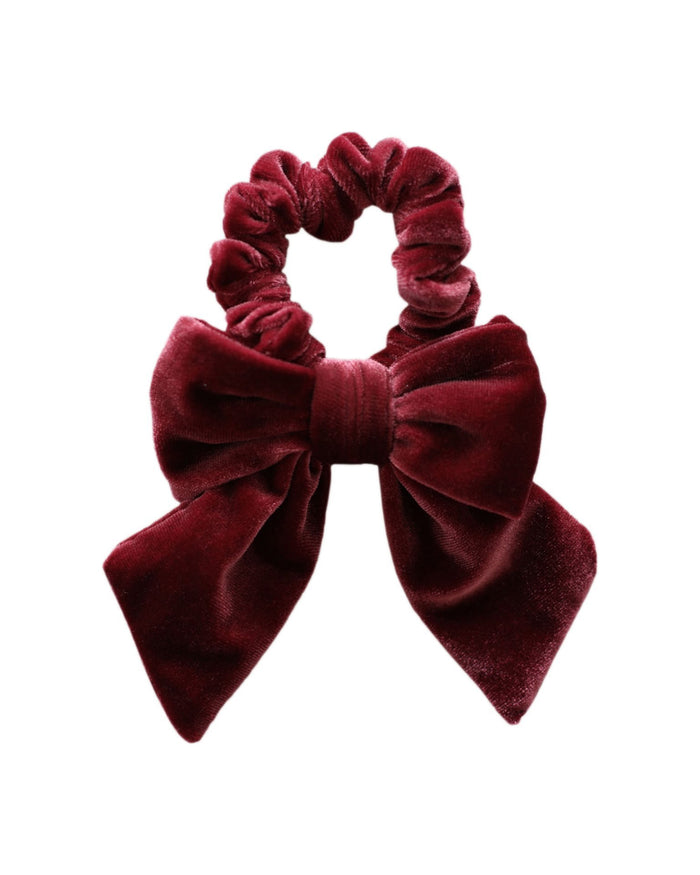 Little jamie kay accessories aela velvet hair tie in rosewood