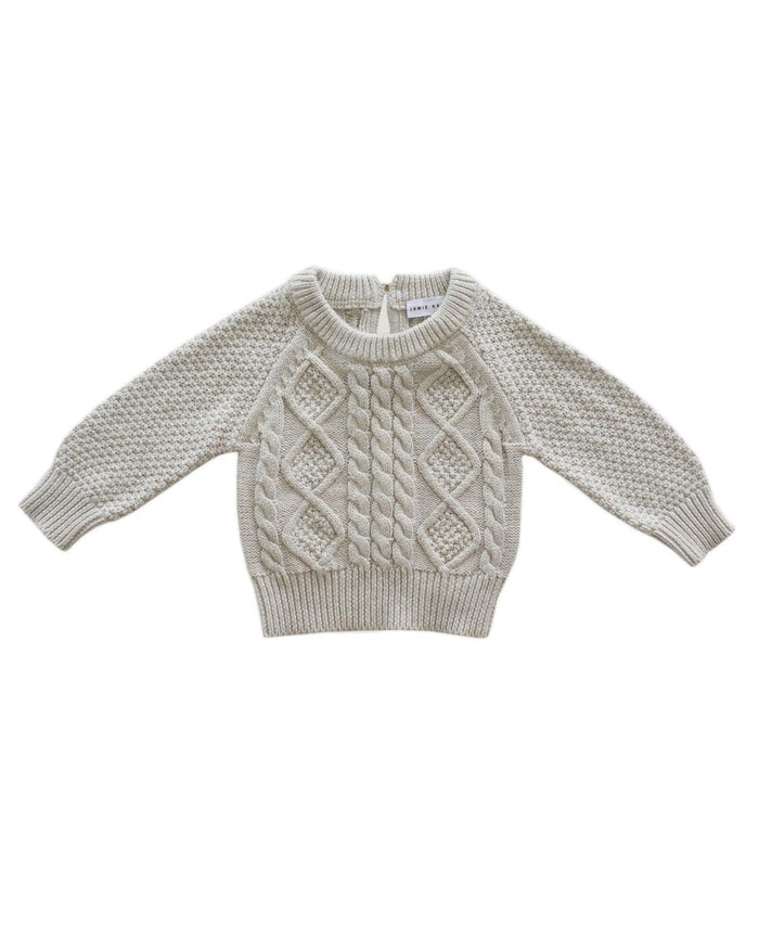 Little jamie kay boy 1y cable knit in oatmeal