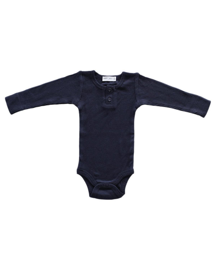 Little jamie kay baby boy nb cotton modal bodysuit in dark grey
