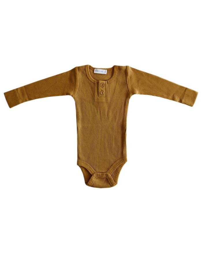 Little jamie kay baby girl nb cotton modal bodysuit in golden