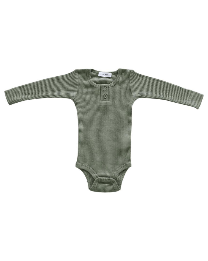 Little jamie kay baby girl nb cotton modal bodysuit in laurel