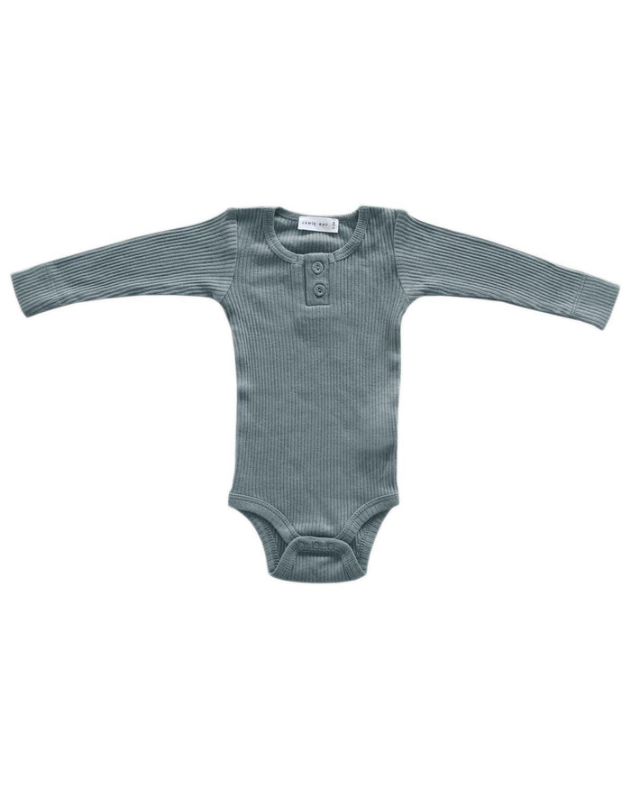 Little jamie kay baby girl nb cotton modal bodysuit in storm