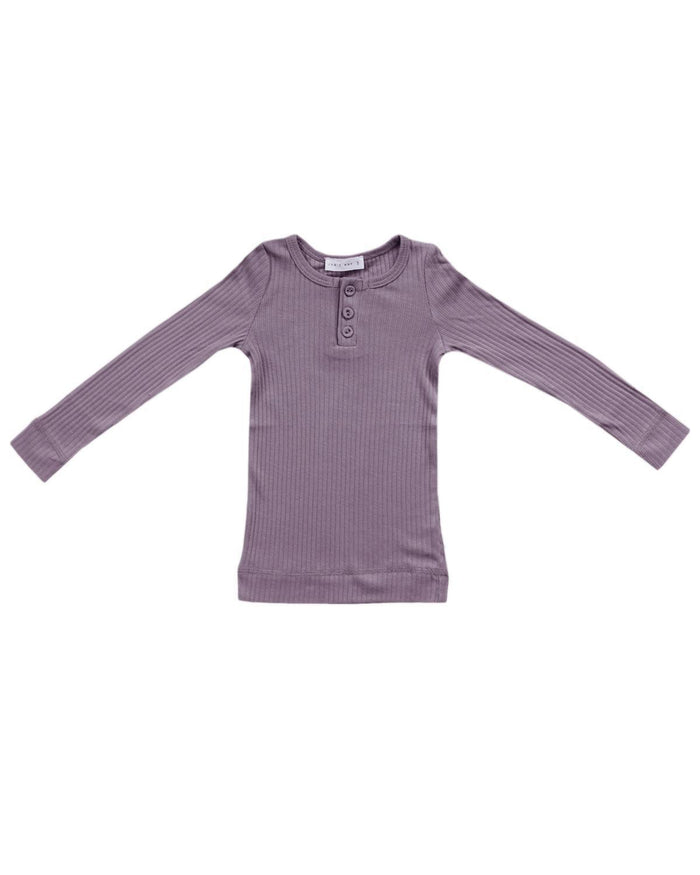 Little jamie kay girl 1y cotton modal henley in dusk