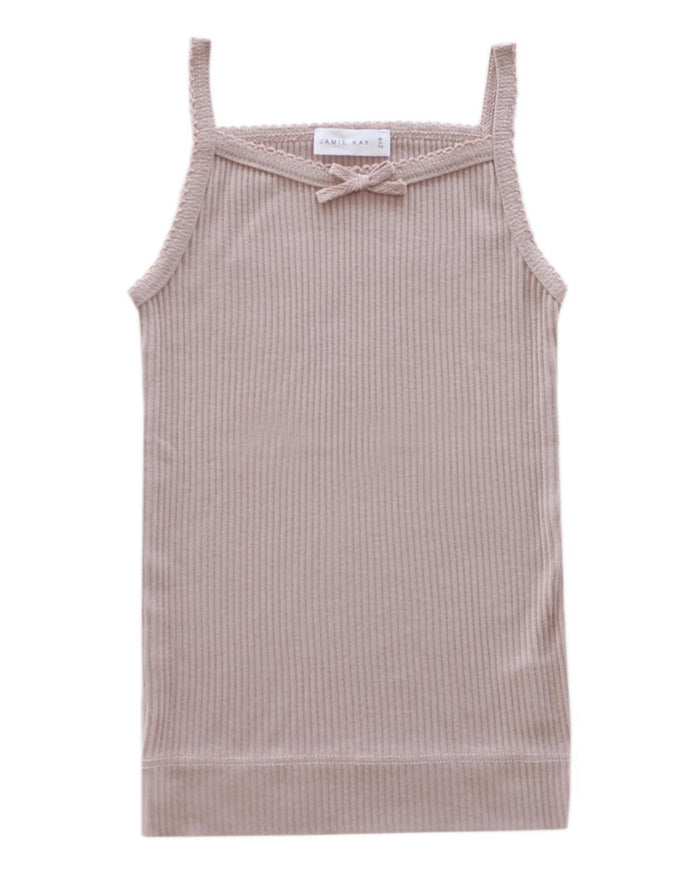 Little jamie kay girl 1y cotton modal singlet in bloom